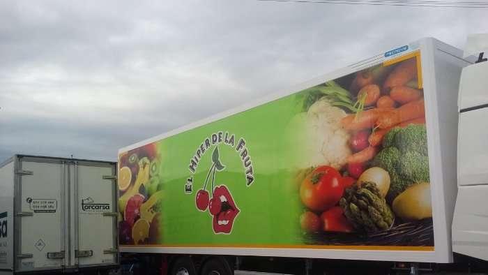 Rotulacion de vehiculos con impresión digital proyecto El hiper de la fruta camion 01
