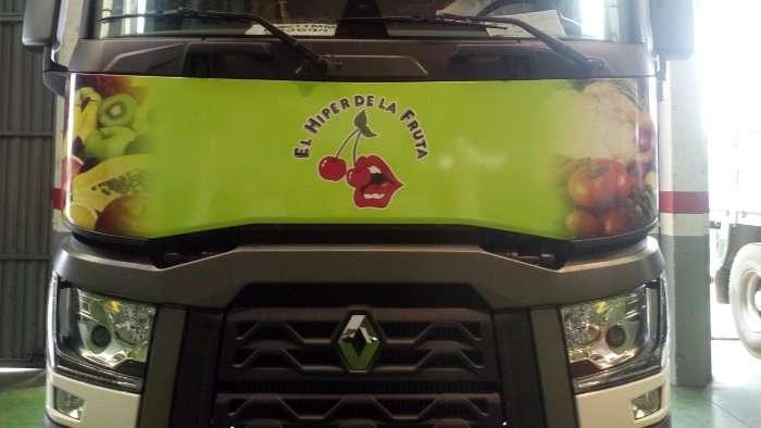 Rotulacion de vehiculos con impresión digital proyecto El hiper de la fruta camion 03