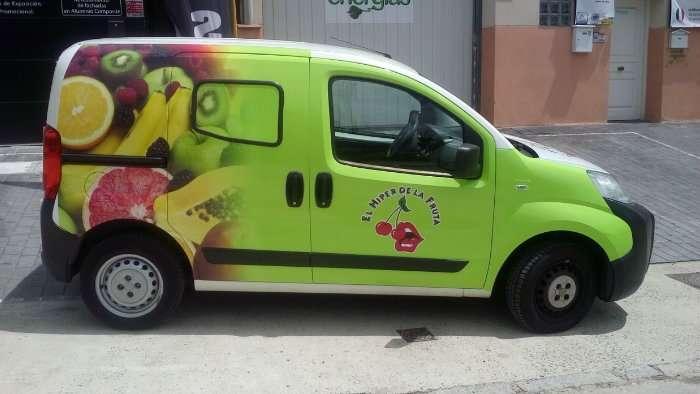 Rotulacion de vehiculos con impresión digital proyecto El hiper de la fruta coche 02