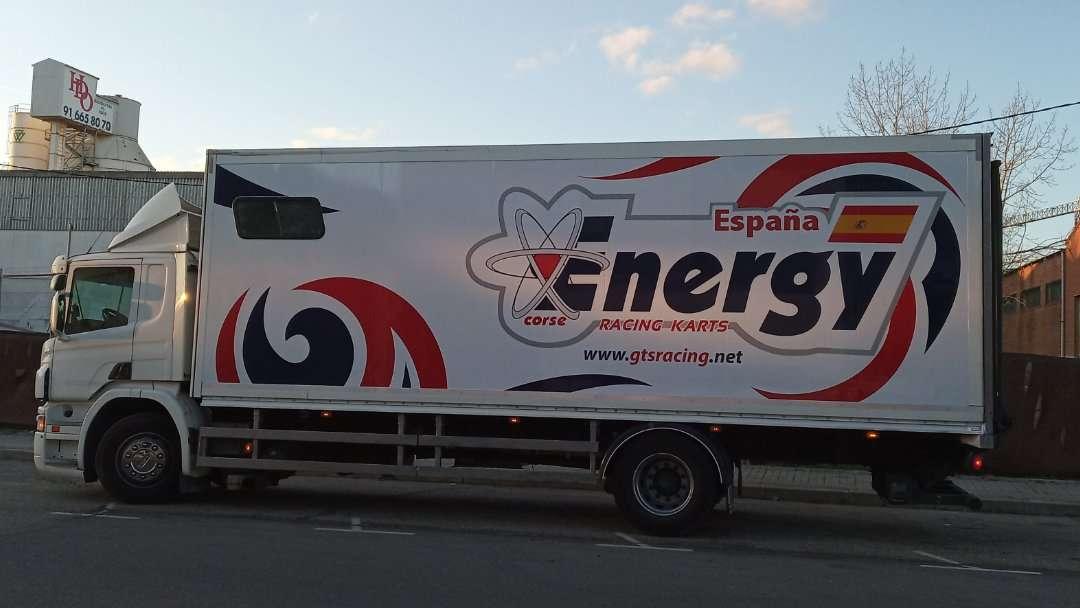 Rotulacion de vehiculos con impresión digital proyecto Energy 03