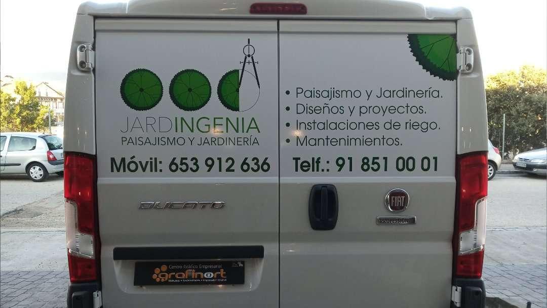 Rotulacion de vehiculos con impresión digital proyecto Jardigenia 01