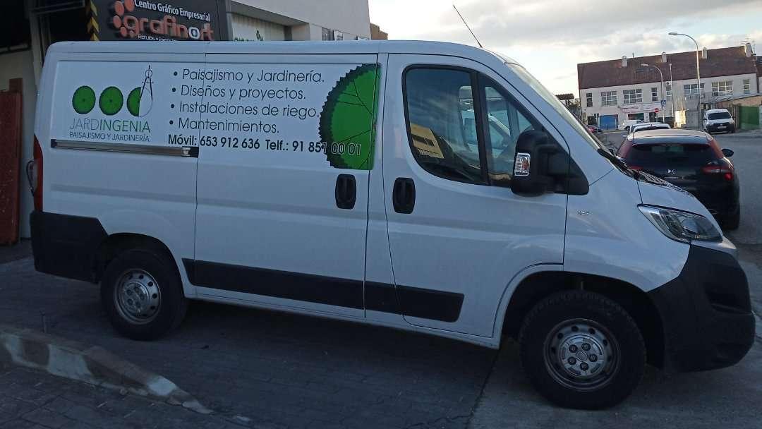 Rotulacion de vehiculos con impresión digital proyecto Jardigenia 02