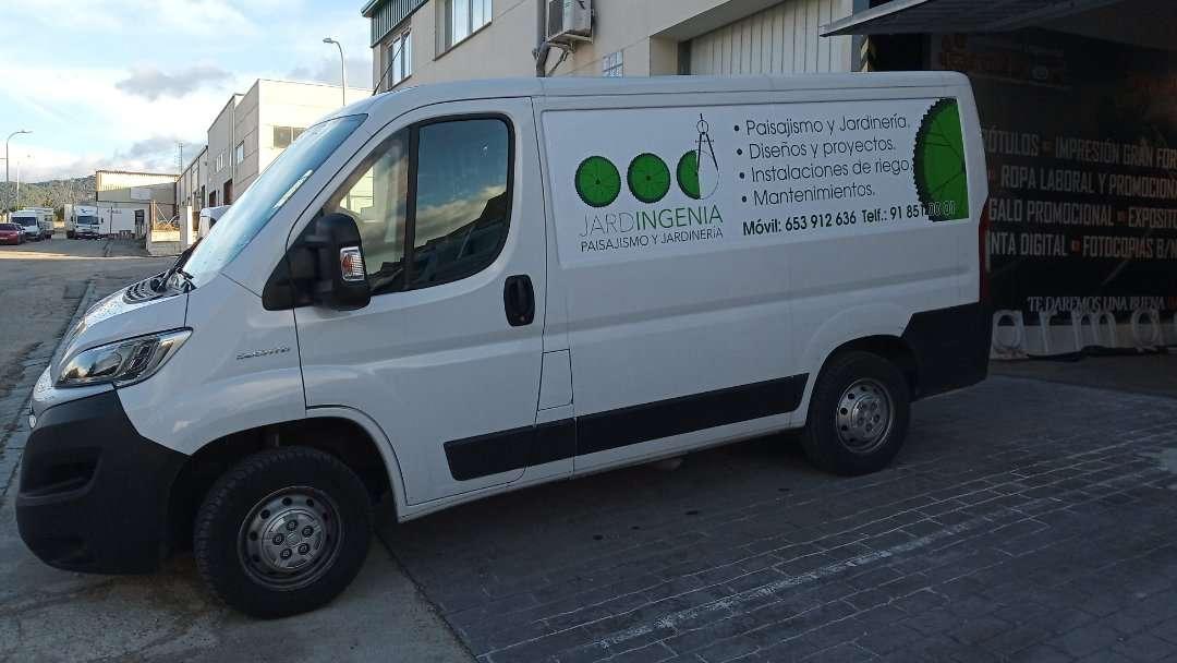 Rotulacion de vehiculos con impresión digital proyecto Jardigenia 03