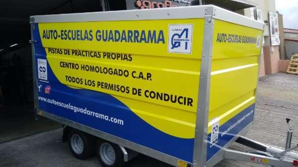 Rotulacion de vehiculos con impresión digital proyecto auto escuales Guadarrama 01