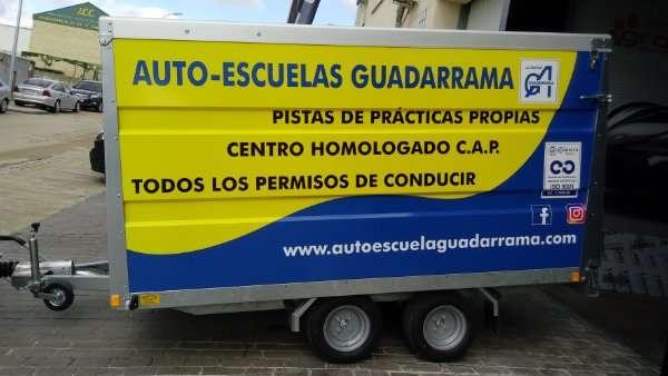 Rotulacion de vehiculos con impresión digital proyecto auto escuales Guadarrama 02