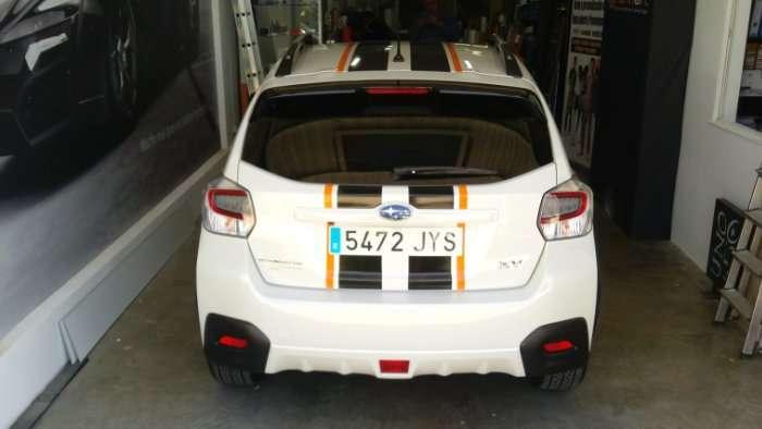 Rotulacion de vehiculos con vinilo de cartunning proyecto Subaru 01