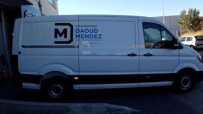 Rotulacion de vehiculos con vinilo de corte a dos colores proyecto Daoud Mendez 01