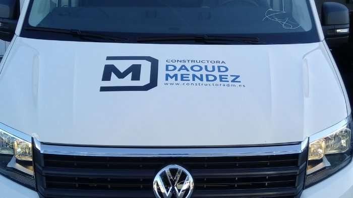 Rotulacion de vehiculos con vinilo de corte a dos colores proyecto Daoud Mendez 03