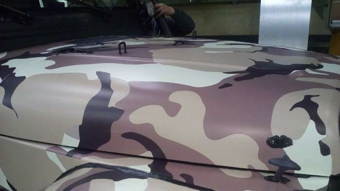 Rotulacion de vehiculos con vinilo de corte a un solo color proyecto Jeep US Army 02 1