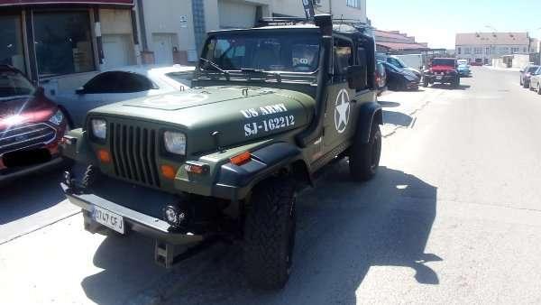 Rotulacion de vehiculos con vinilo de corte a un solo color proyecto US Army 03