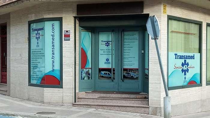Grafinort Centro Gráfico Empresarial Decoración de cristaleras proyecto Transamed 01